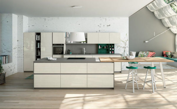 Cronos combines a versatile look with functional solutions to achieve the merge with the other spaces of the house.